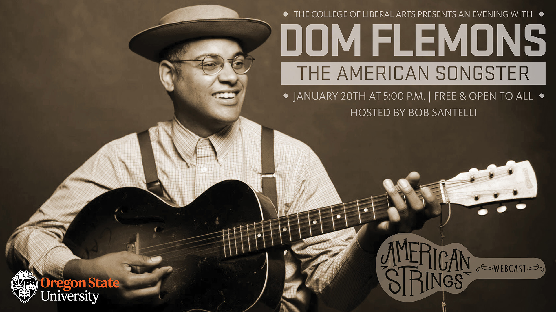 An Evening with Dom Flemons