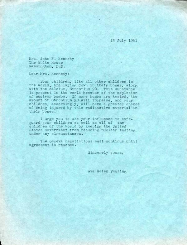 Linus Pauling letters