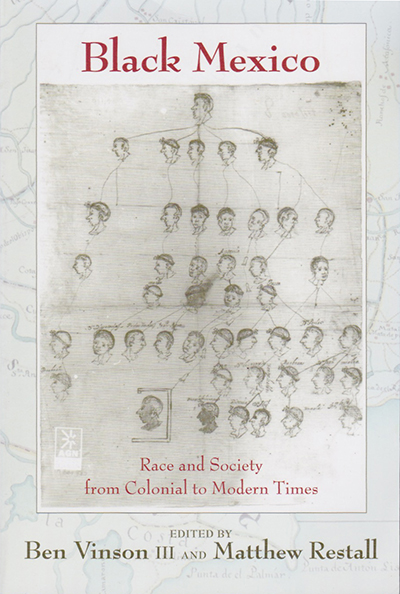 Book cover drawing of heads as a family tree