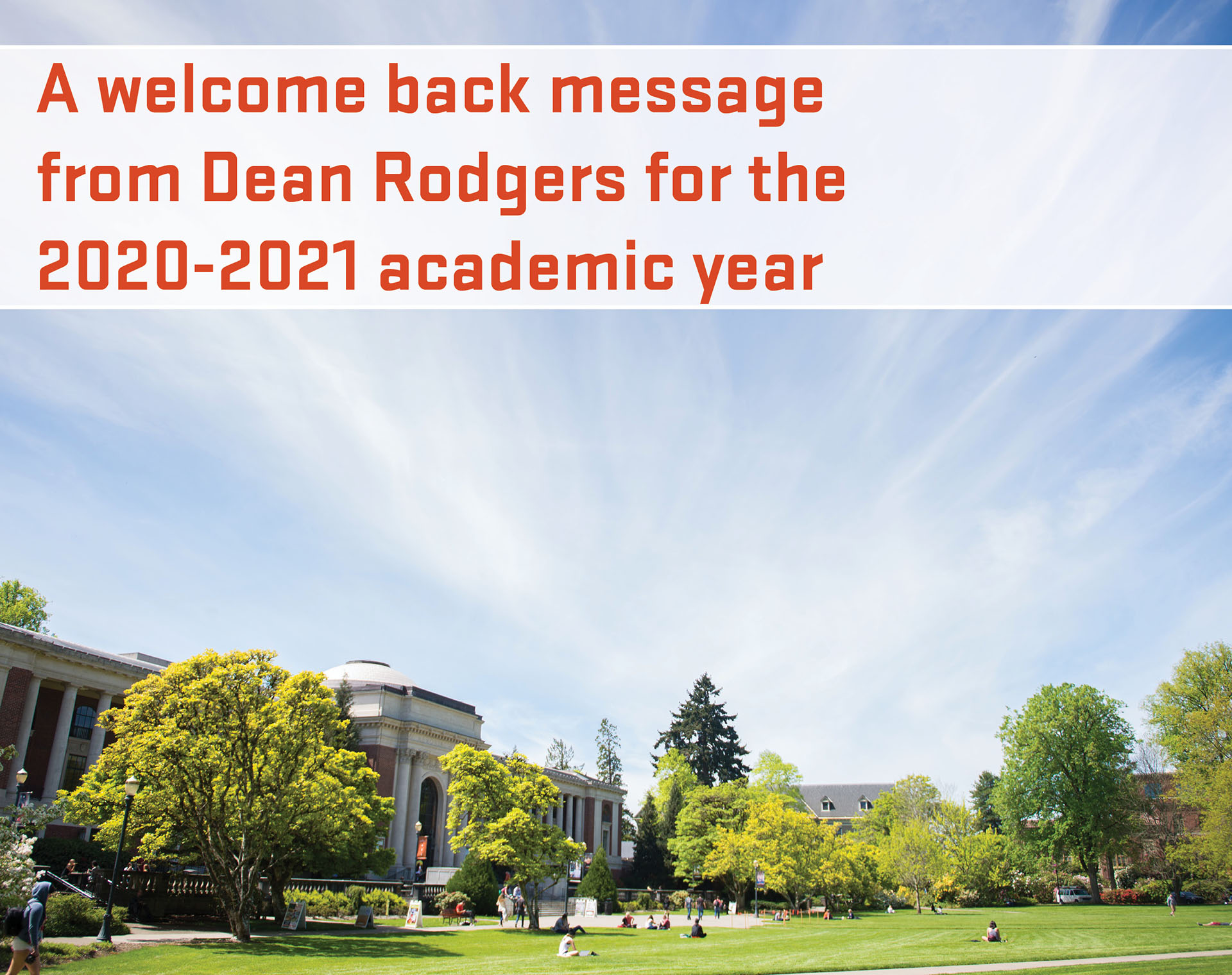 Welcome back to 2020-2021 from Dean Rodgers