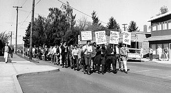 1968 Corvallis citizens marched in honor of Martin Luther King, Jr.