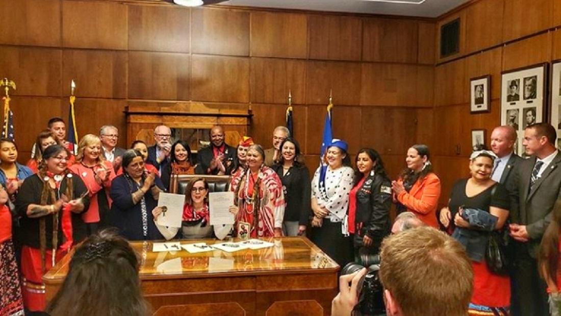 Oregon Governor signs bill involving testimony from WGSS PhD candidate Luhui Whitebear