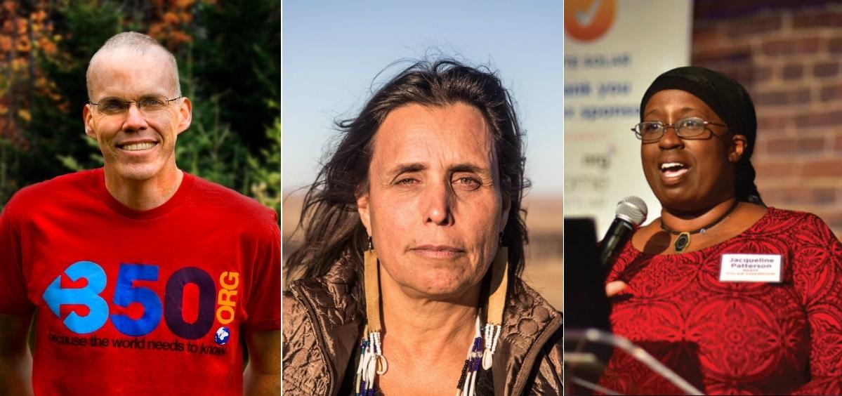 Climate Lecturers Bill McKibben, Winona LaDuke, and Jacqueline Patterson