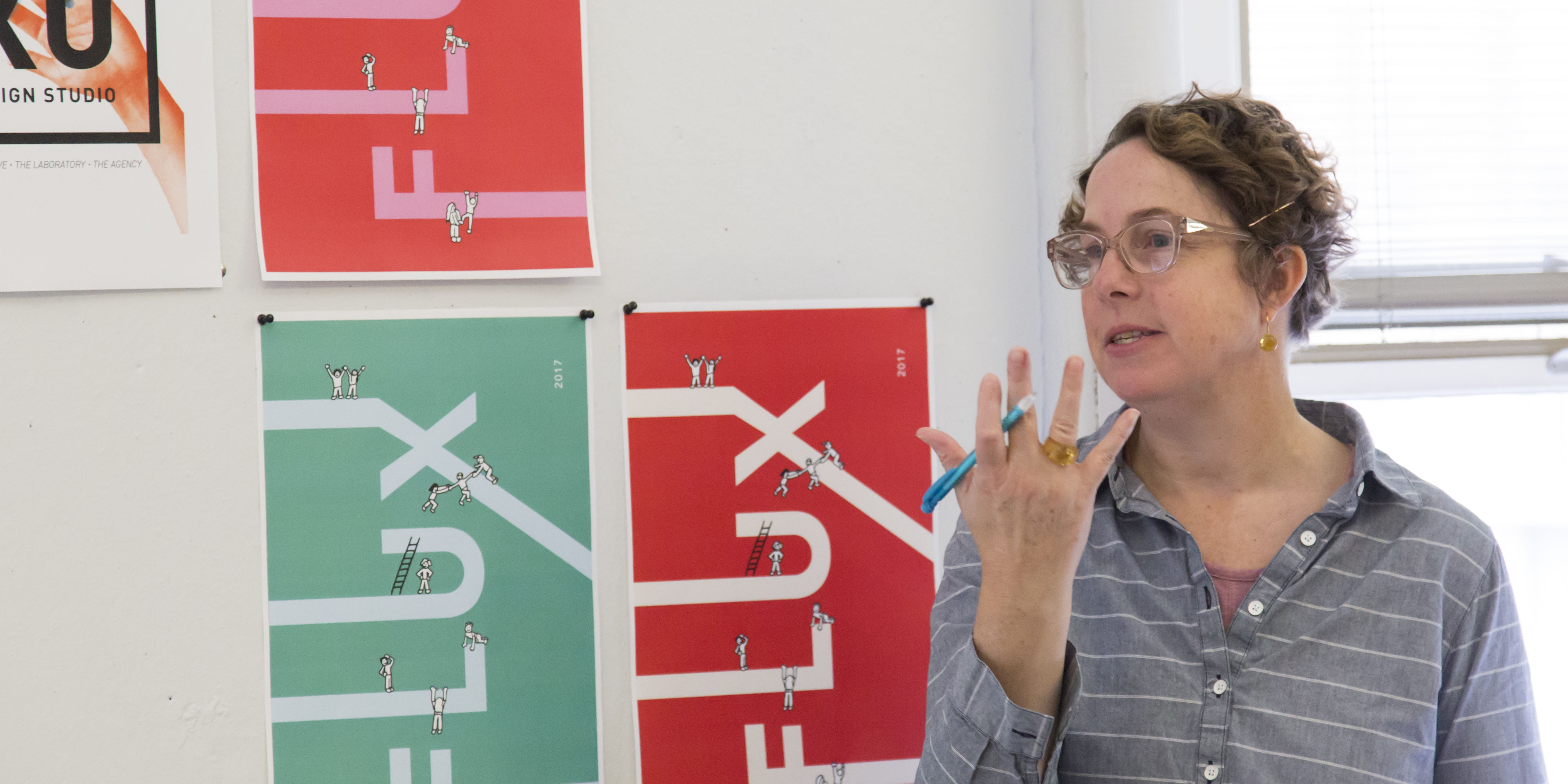 Oregon State University graphic design instructor Christine Gallagher
