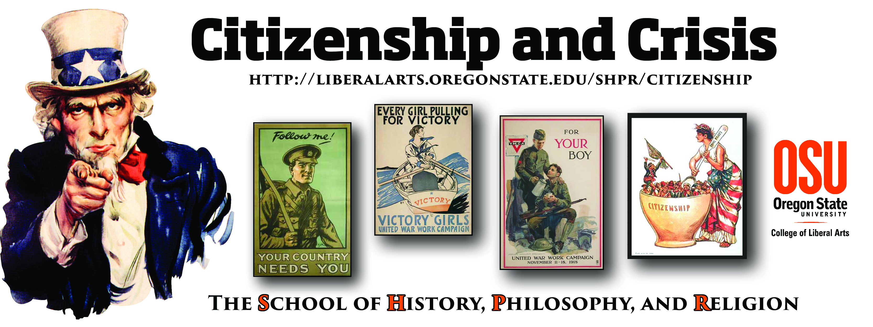 Citizenship and Crisis Banner
