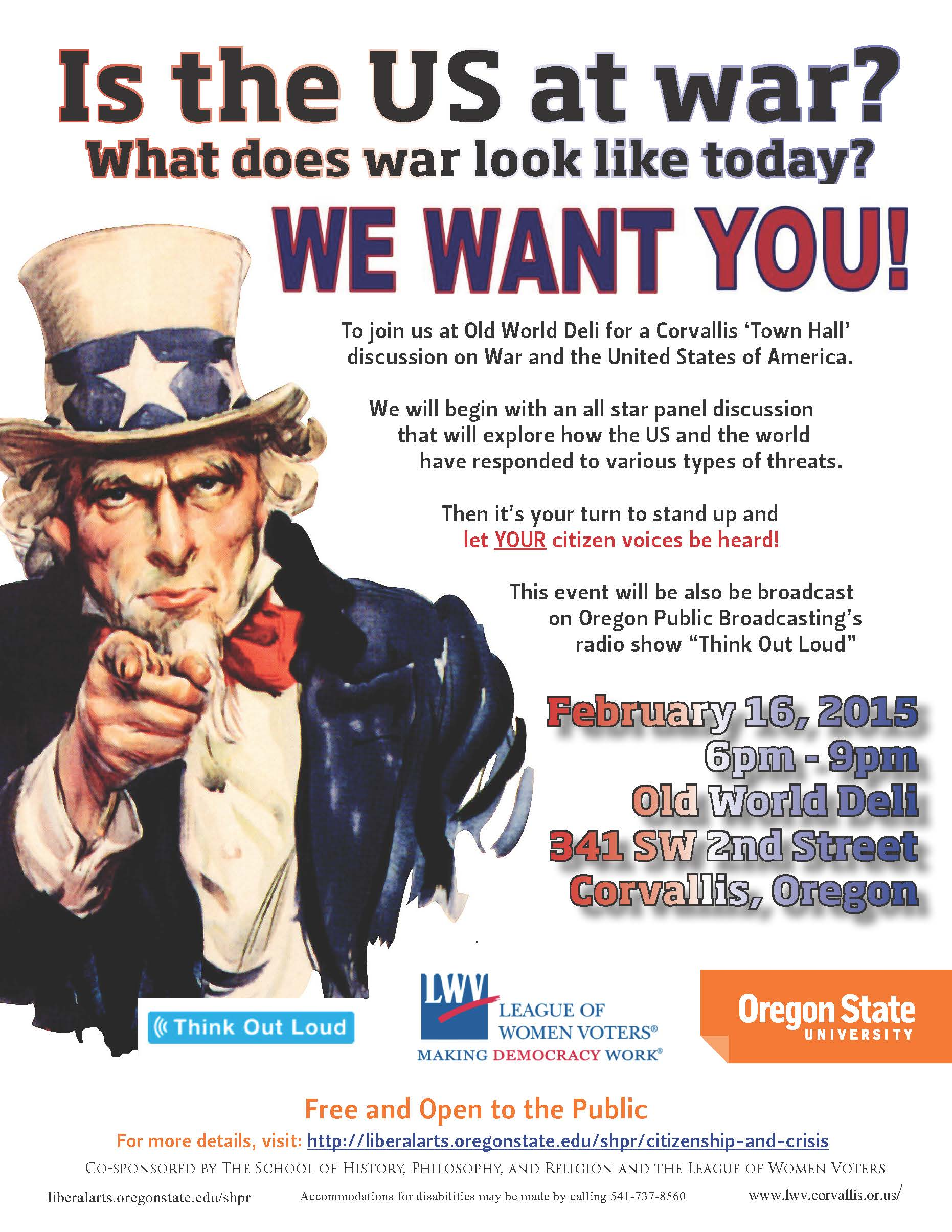 Corvallis Town Hall Poster