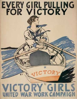 Every Girl Pulling for Victory WWI poster