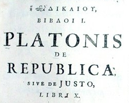 Plato's Republic 1713 edition