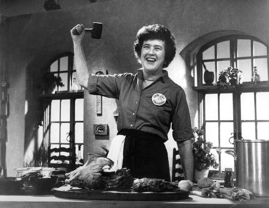 Julia Child, American chef, author, and television personality.