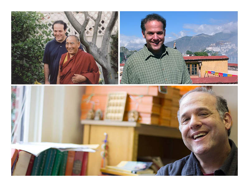 Jim Blumenthal with Geshe Sopa collage