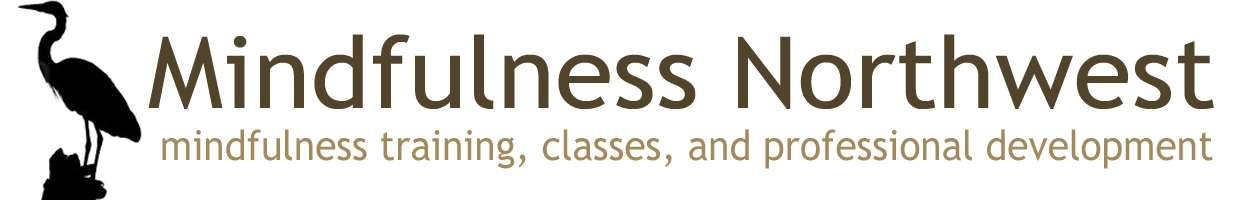 This is the Mindfulness Northwest logo. They offer mindfulness training, classes and professional development