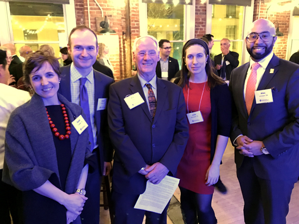 2018 Master of Public Policy alumni with President Ed Ray