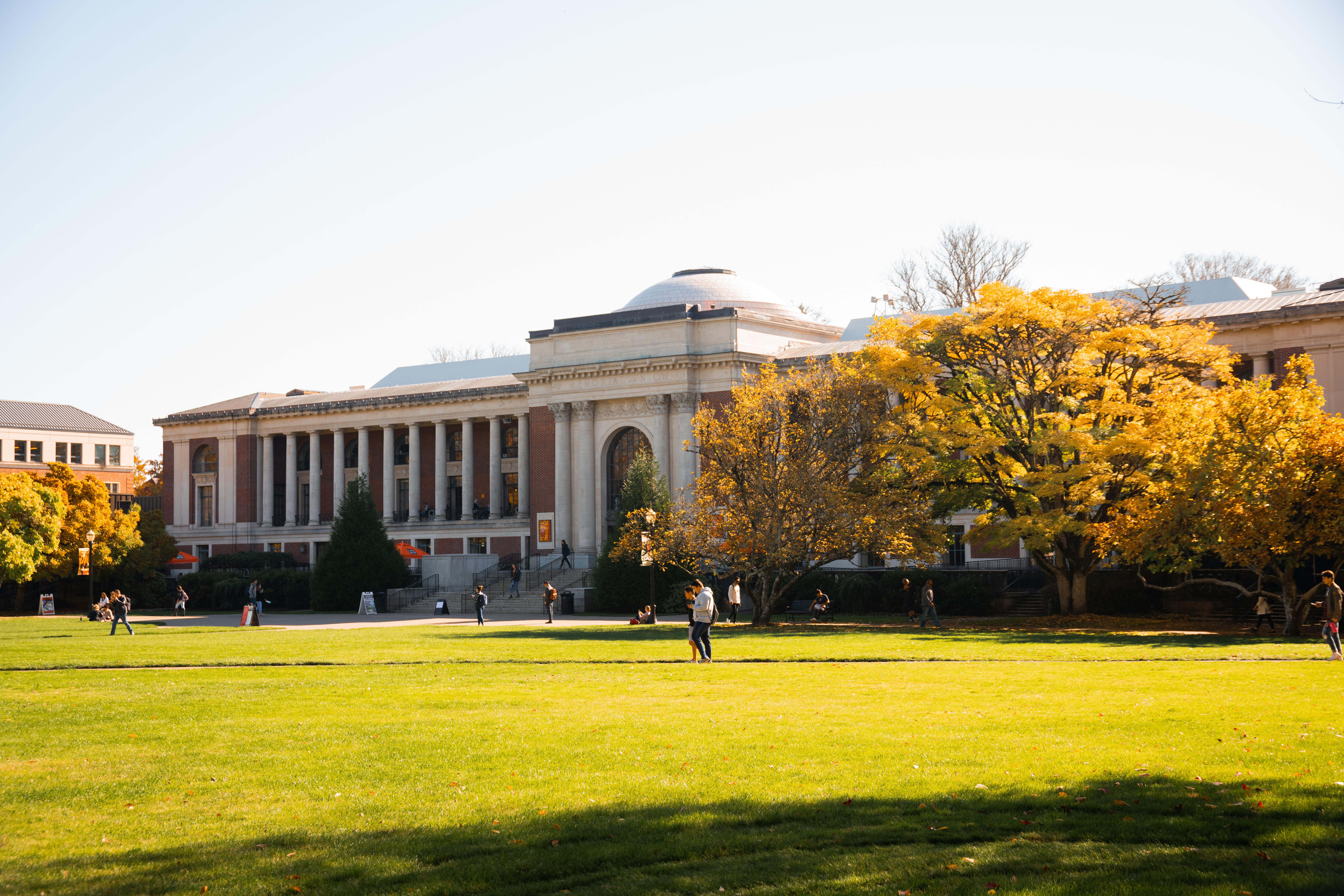 Photo of the Memorial Union Building & Qaud