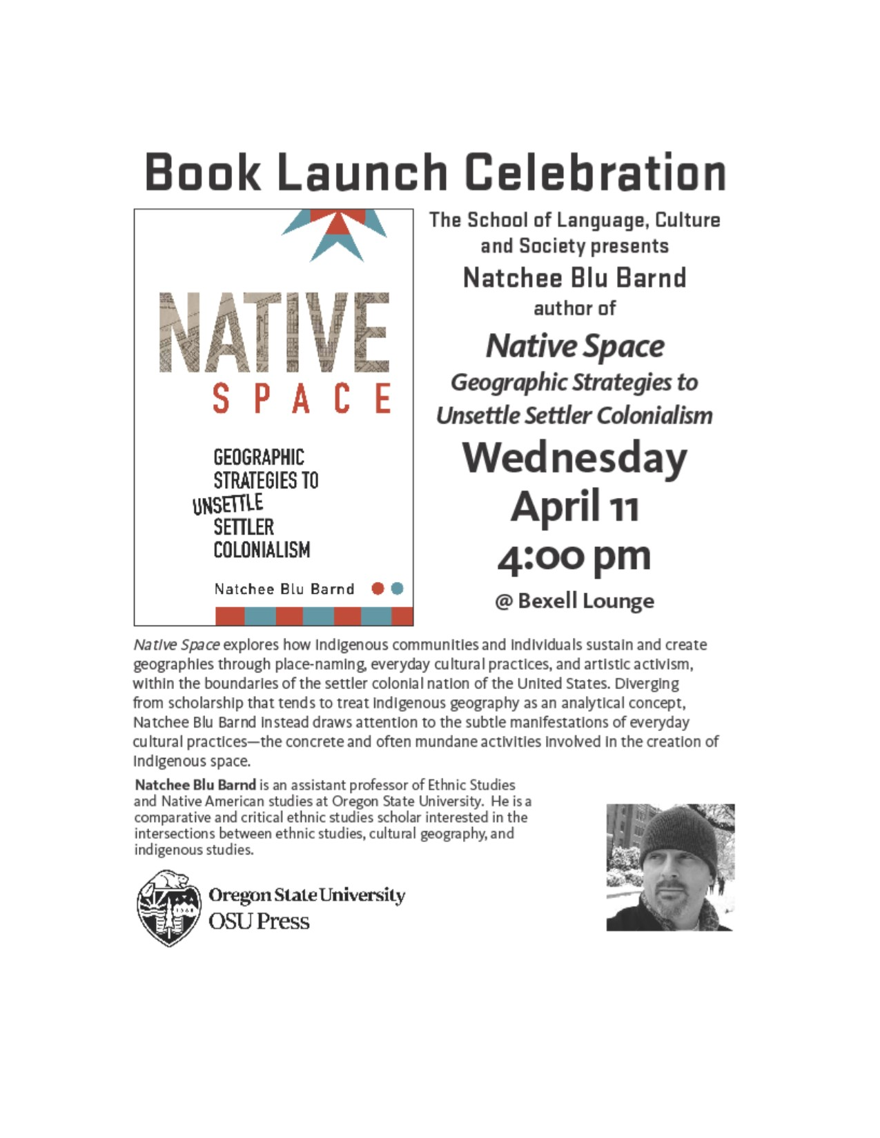 Book Launch Celebration/Native Space