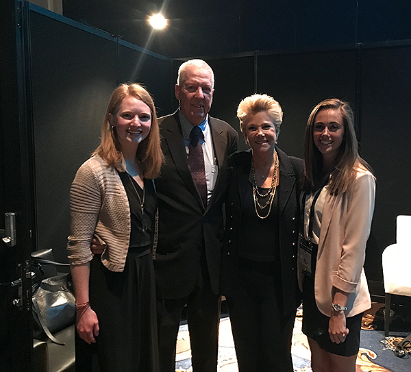 Allison Daley (l) and Anna Weeks (r) with David Hartman and Joan Lunden