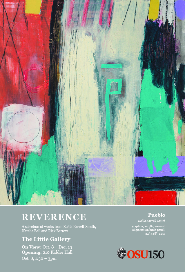 Reverence - a selection of works from Ka'ila Farrell-Smith, Natalie Ball and Rick Bartow