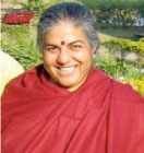 Vandana Shiva is the Director of The Research Foundation for Science, Technology and Natural Resource Policy