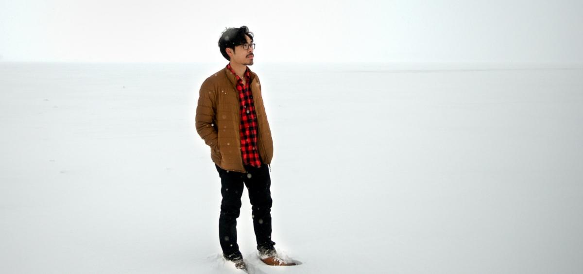 Alex Pho in snowy landscape