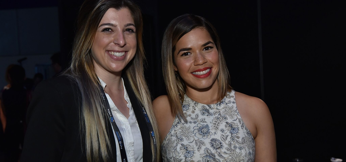 Courtney Kyer with America Ferrera