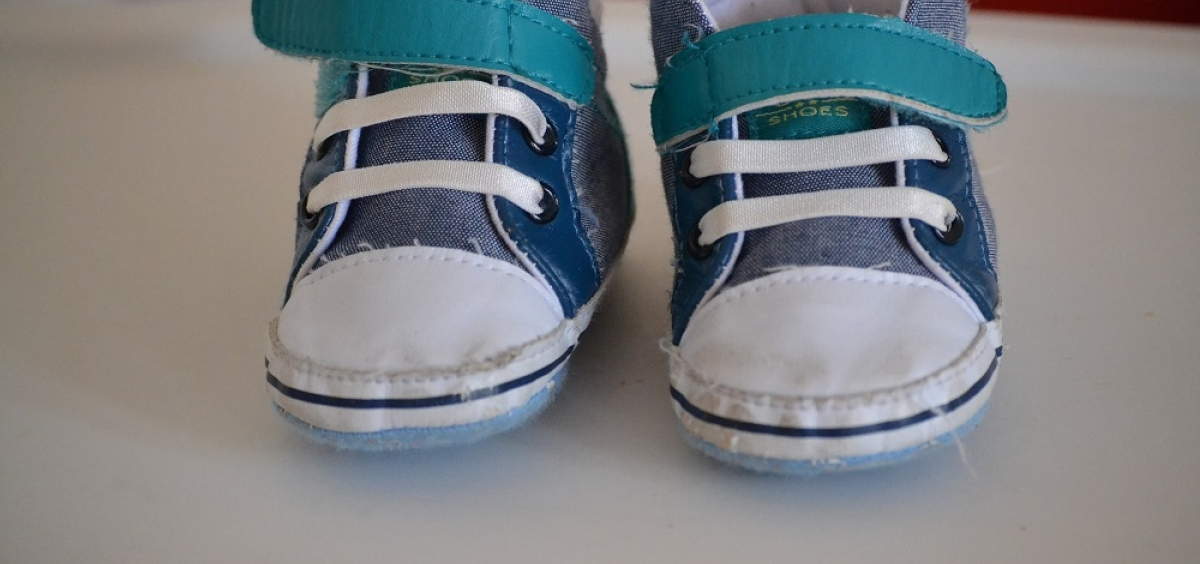 closeup view of a pair of baby shoes