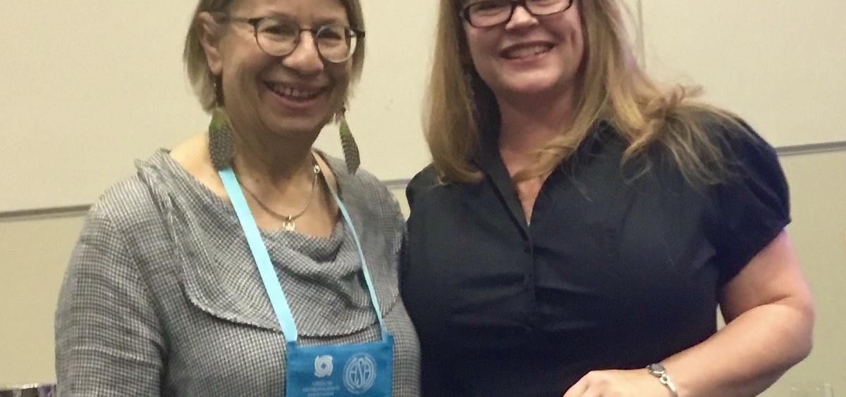 Prize winner Mindy Proski and Professor Joan Gross