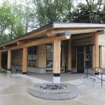exterior of oregon state university's native american longhouse