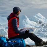 Claire Giordano in mountain landscape