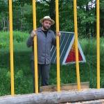 David Buckley Borden with art installation