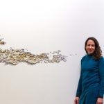 Leah Wilson with art installation