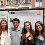 Undergraduates presenting their research