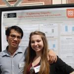 Duy and Amber presenting their work