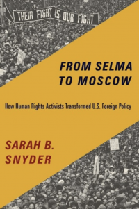 Book cover from Selma to Russia photo of people marching