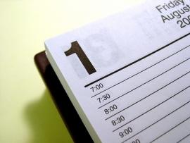 Academic calendar deadlines