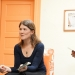 Photo of Emily Yates-Doerr speaks with graduate students
