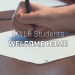 student hand behind text reading SWLF Student Welcome Home