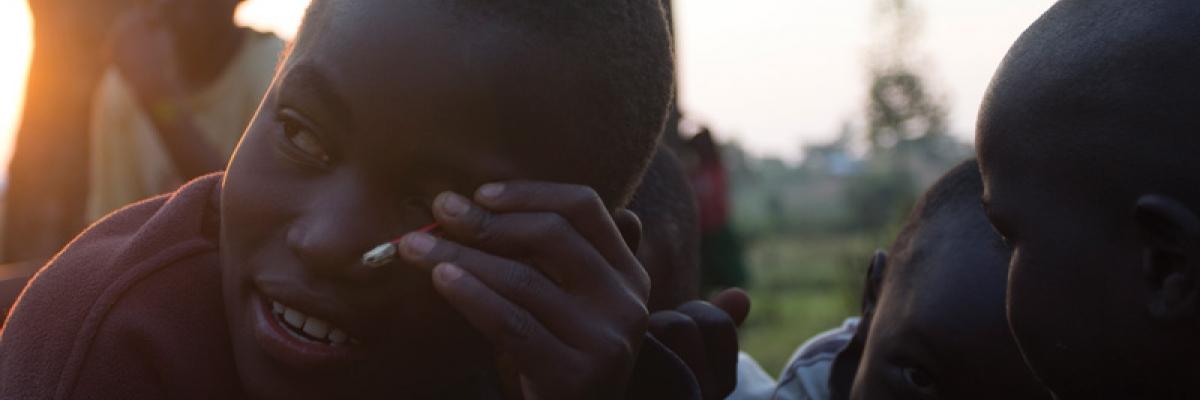 Scene from Zach Dunn's work in Africa