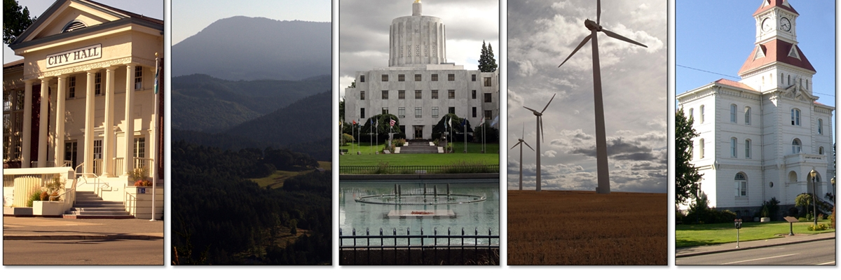 Public policy related scenes from throughout the state of Oregon