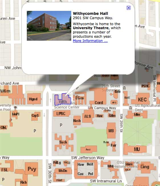 OSU theatre parking map